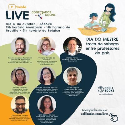 Editora Colli Books promove live com professores de diversas regiões do Brasil